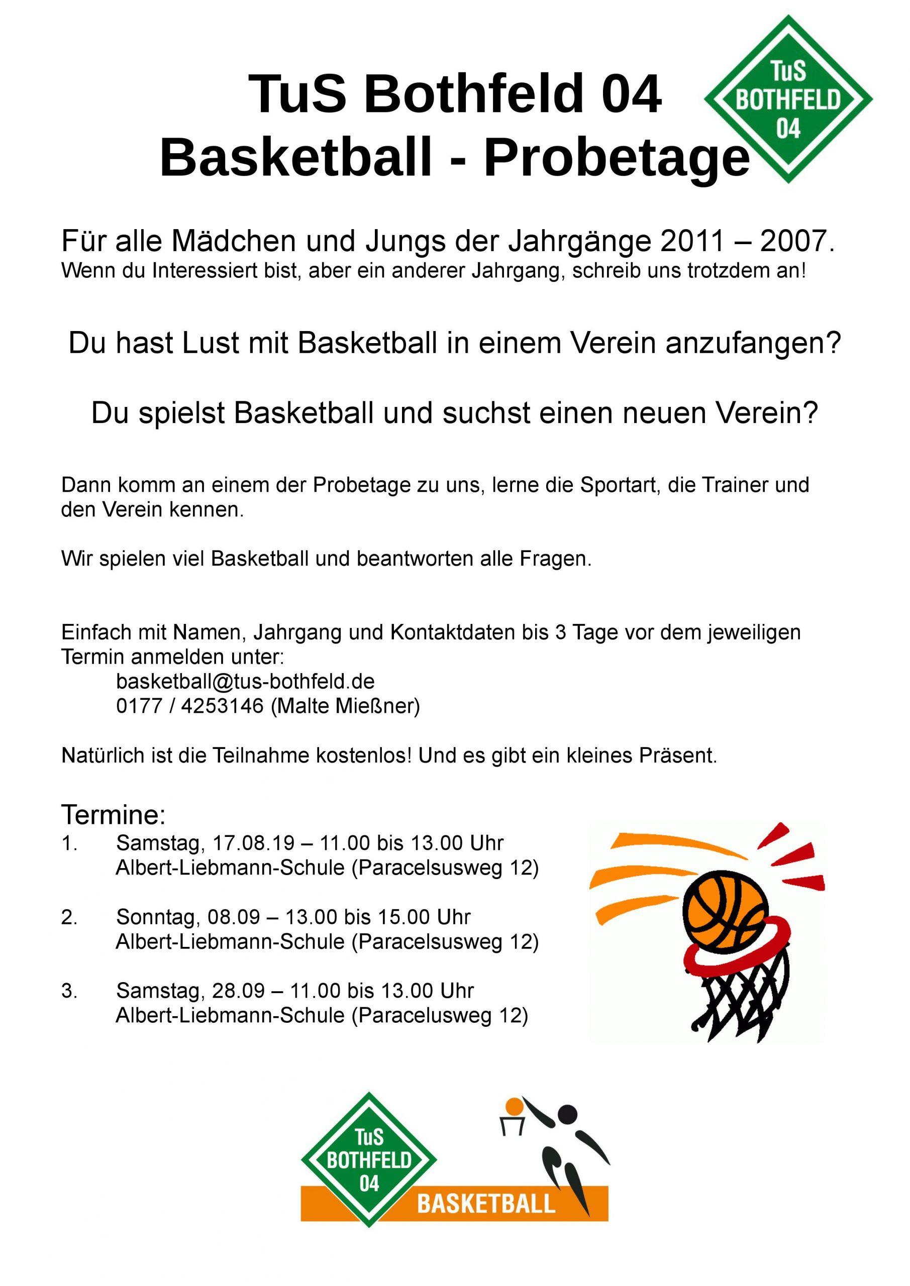 Basketball Probetage